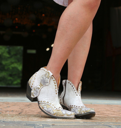 Old Gringo Erin Short White Boots BL3083-1 Toe