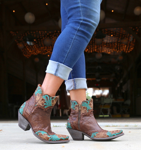 Old Gringo Erin Short Brass Turquoise Boots BL3084-1 Picture