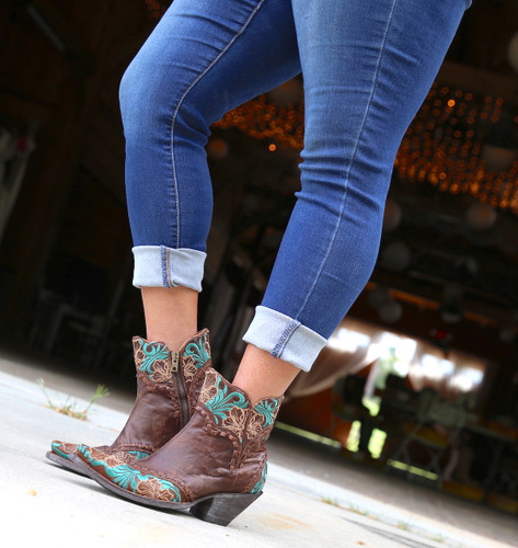 Old Gringo Erin Short Brass Turquoise Boots BL3084-1 Photo