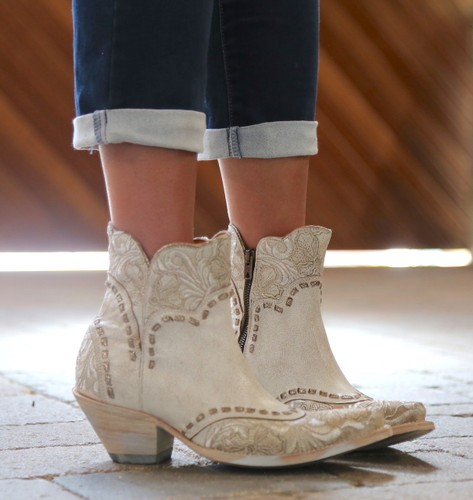 Old Gringo Erin Short Taupe Boots BL3084-2 Embroidery