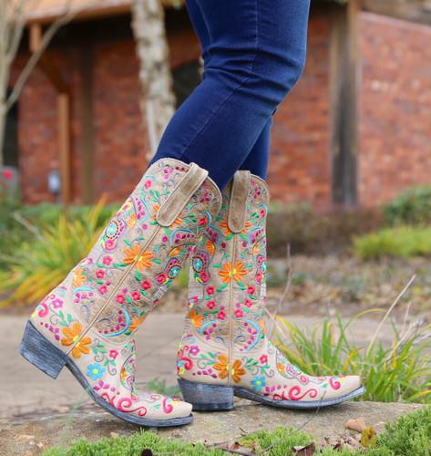 Old Gringo Klak Bone Boots L1300-22 Side