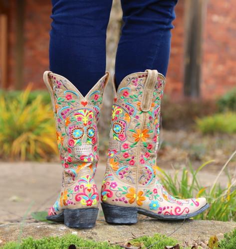 Old Gringo Klak Bone Boots L1300-22 Heel