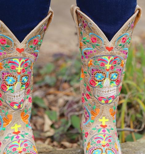 Old Gringo Klak Bone Boots L1300-22 Skull