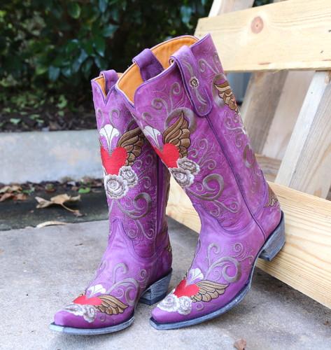 Old Gringo Grace Purple Boots L639-10 Picture