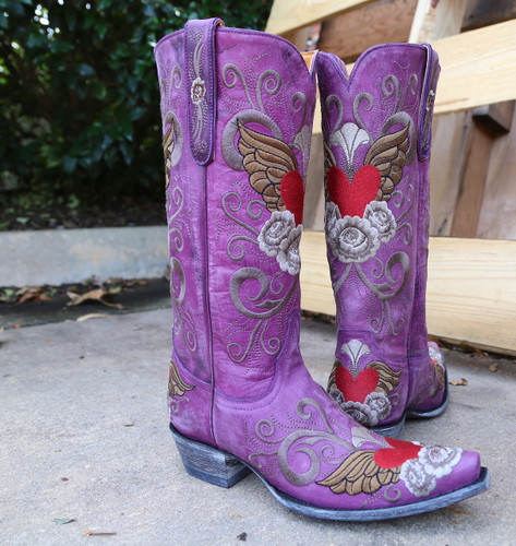Old Gringo Grace Purple Boots L639-10 Toe