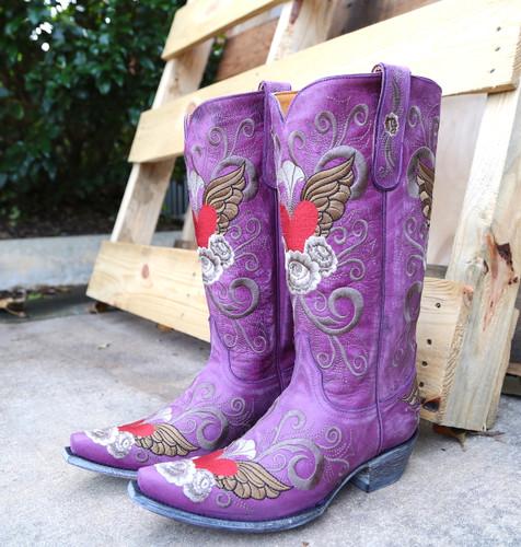 Old Gringo Grace Purple Boots L639-10 Image
