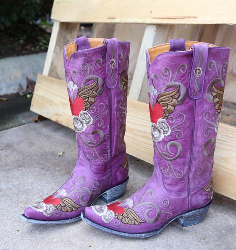 Old Gringo Grace Purple Boots L639-10 Side