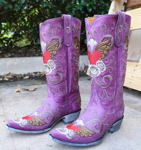 Old Gringo Grace Purple Boots L639-10 Photo
