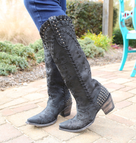 Double D by Old Gringo Almost Famous Black Boots DDL026-4 Image