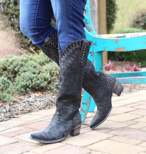 Double D by Old Gringo Almost Famous Black Boots DDL026-4 Picture
