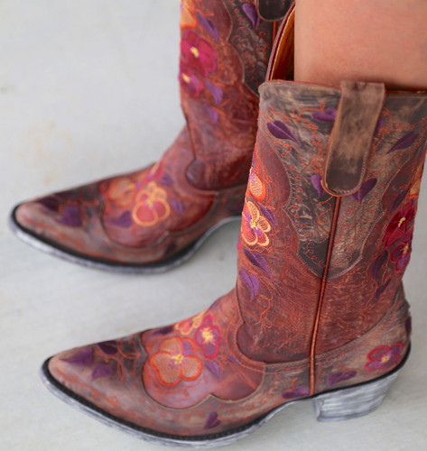 Old Gringo Pansy Mango Boots Sintino L2621-6 Image