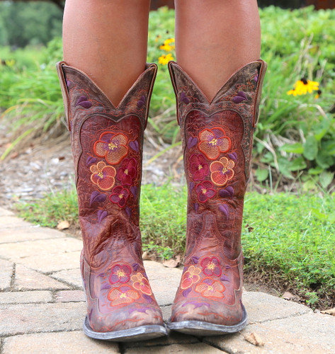 Old Gringo Pansy Mango Boots Sintino L2621-6 Embroidery