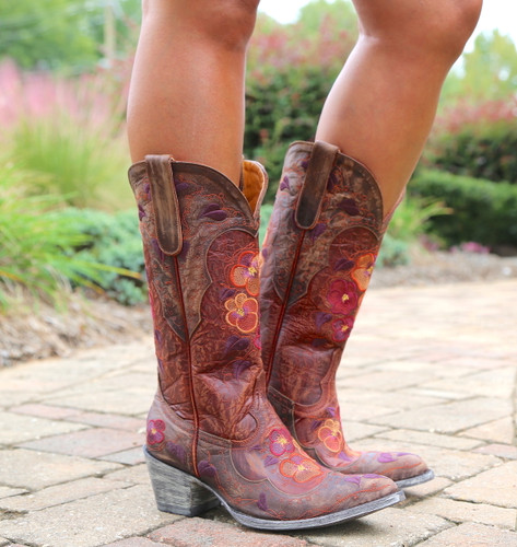 Old Gringo Pansy Mango Boots Sintino L2621-6 Picture