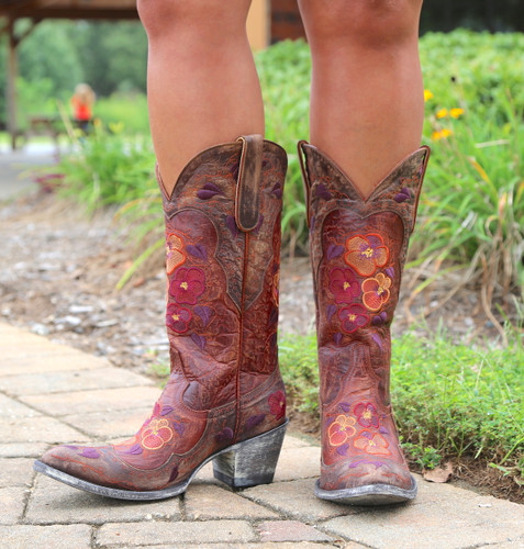Old Gringo Pansy Mango Boots Sintino L2621-6 Front