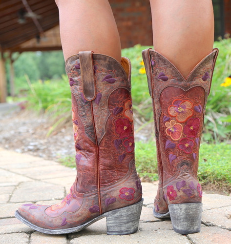 Old Gringo Pansy Mango Boots Sintino L2621-6 Heel