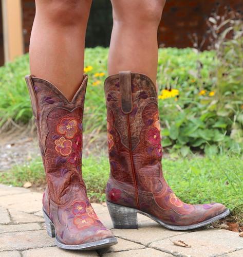 Old Gringo Pansy Mango Boots Sintino L2621-6 Toe