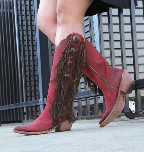 Liberty Black Ophelia Rojo Boots LB712953 Zipper