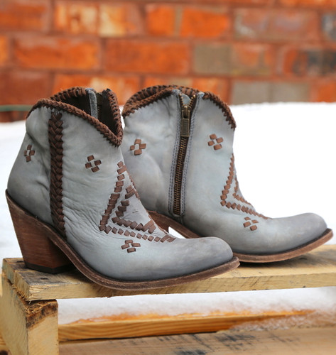 Liberty Black Aztec Zipper Boot Gray LB712376 Image