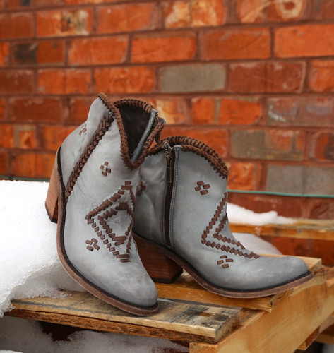 Liberty Black Aztec Zipper Boot Gray LB712376 Photo