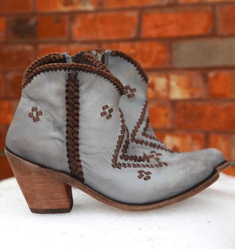 Liberty Black Aztec Zipper Boot Gray LB712376 Braid