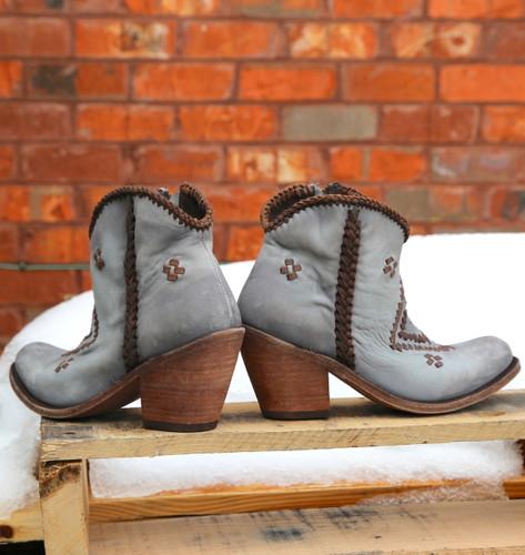 Liberty Black Aztec Zipper Boot Gray LB712376 Heel
