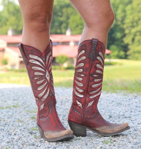 Liberty Black Tall Vintage Rojo Boots LB711510 Front