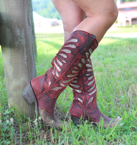 Liberty Black Tall Vintage Rojo Boots LB711510 Side