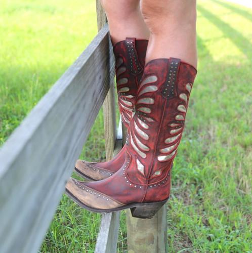 Liberty Black Tall Vintage Rojo Boots LB711510 Toe