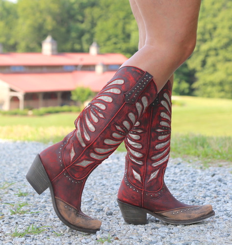 Liberty Black Tall Vintage Rojo Boots LB711510 Image