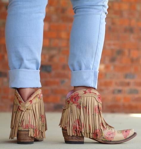 Junk Gypsy by Lane Spitfire Floral Boots JG0007J Heel