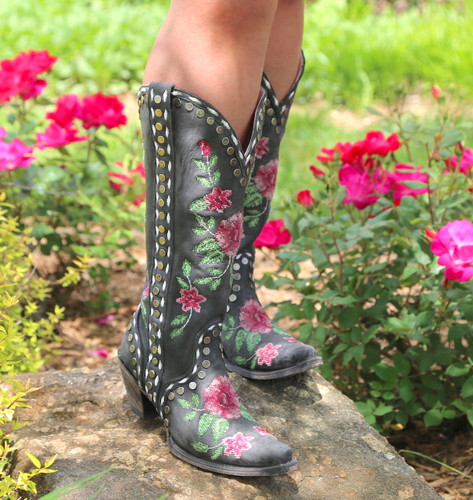 Junk Gypsy By Lane Needlepoint Black Boots JG0053A Photo