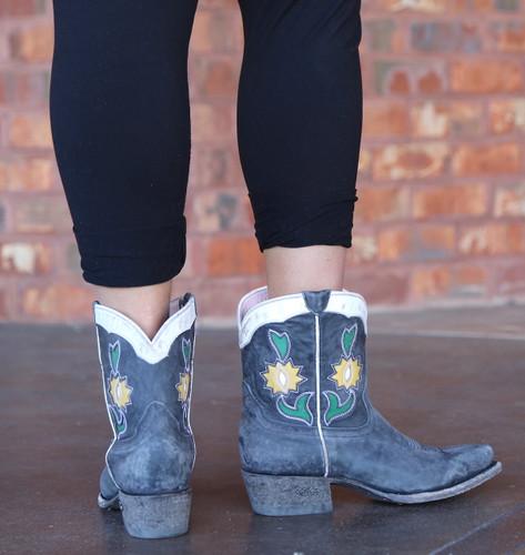 Miss Macie Run Ragged Boots Black U8502-02 Heel