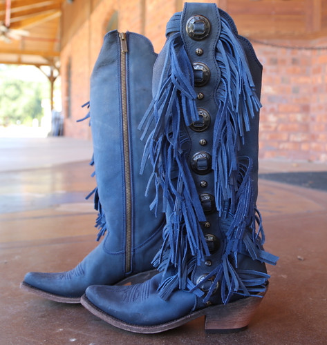 Liberty Black Ophelia Russian Blue Boots LB712953 Picture