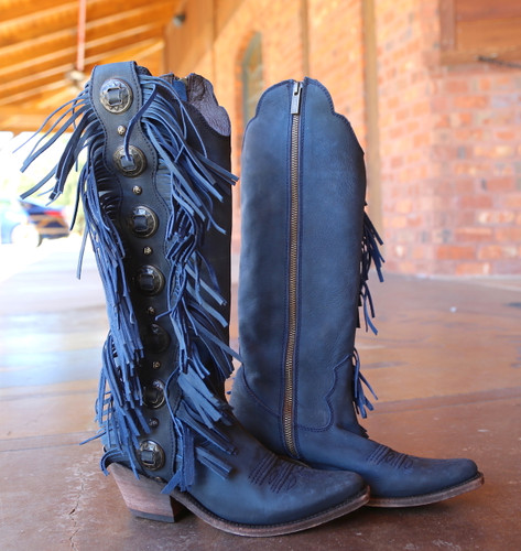 Liberty Black Ophelia Russian Blue Boots LB712953 Photo