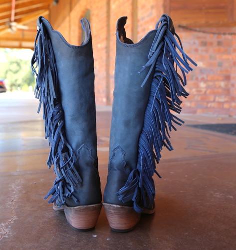Liberty Black Ophelia Russian Blue Boots LB712953 Heel