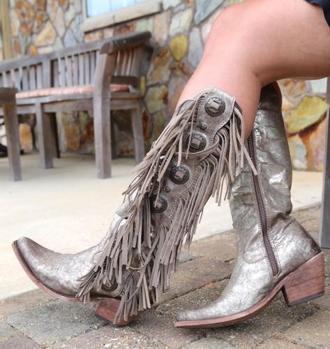 Liberty Black Ophelia Buffed Metal Boots LB712953 Photo