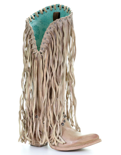 Corral Bone Studs and Fringe Boots E1487 Picture