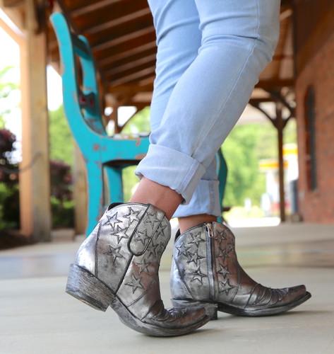 Old Gringo United Short Silver Boots BL2976-4 Heel