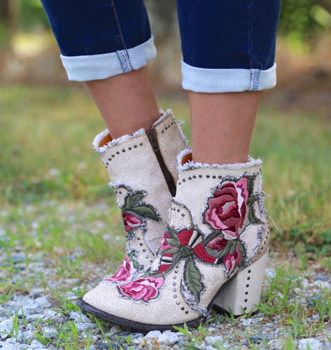 Old Gringo Carla Short Crackled Taupe Boots BL3184-3 Snake