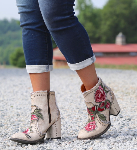 Old Gringo Carla Short Crackled Taupe Boots BL3184-3 Picture