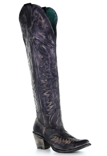 Corral Black Embroidery Tall Top Boots E1506 Picture