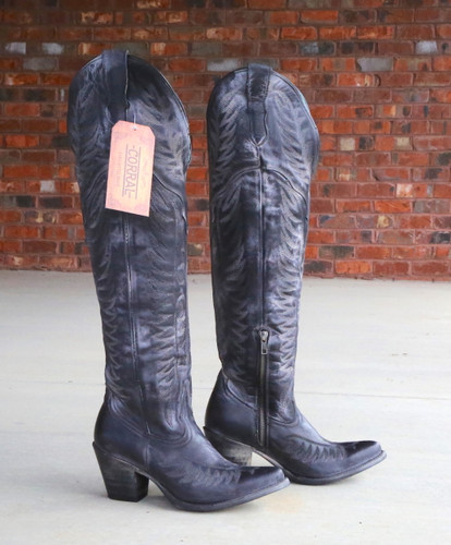 Corral Black Embroidery Tall Top Boots E1506 Image