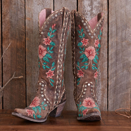 Junk Gypsy by Lane Wild Stitch Brown Needlepoint Boots JG0053B Picture