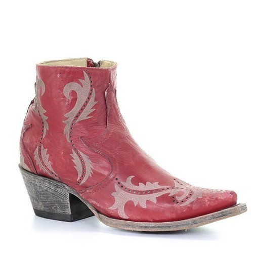 Corral Red Laser Ankle Boot G1379 Picture