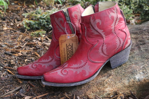 Corral Red Laser Ankle Boot G1379 Image