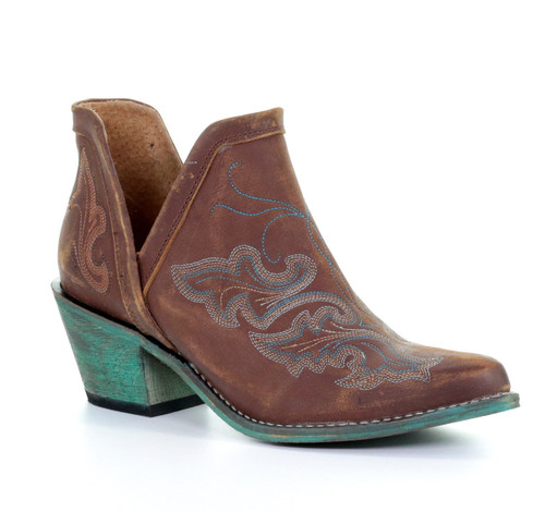 Corral Cognac Embroidery Shoe Boot Q0099 Picture