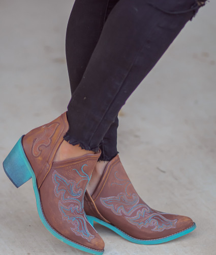 Corral Cognac Embroidery Shoe Boot Q0099 Photo