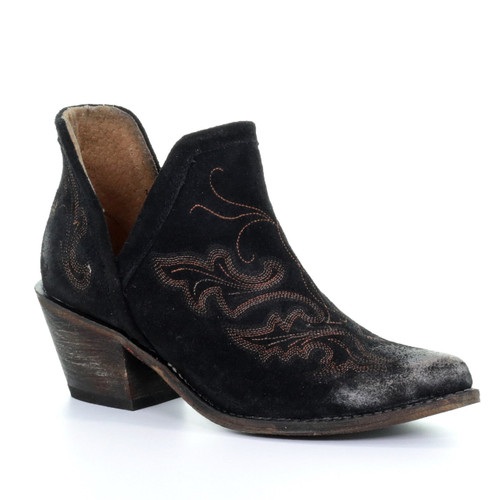 Corral Black Embroidery Shoe Boot Q0098 Picture