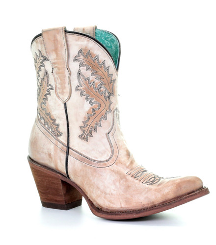 Corral Rose Embroidery Bootie E1437 Picture