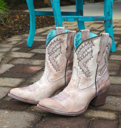 Corral Rose Embroidery Bootie E1437 Image